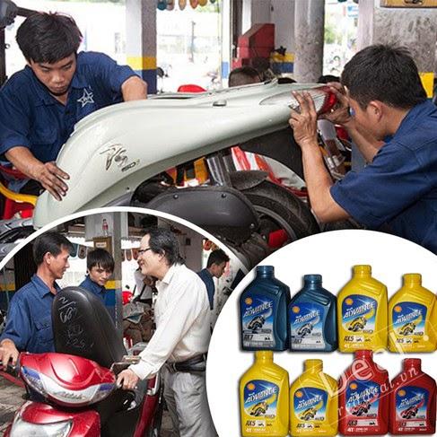 Tuyển thợ phụ sửa xe máy, Nhận dạy nghề sửa xe tại Tphcm