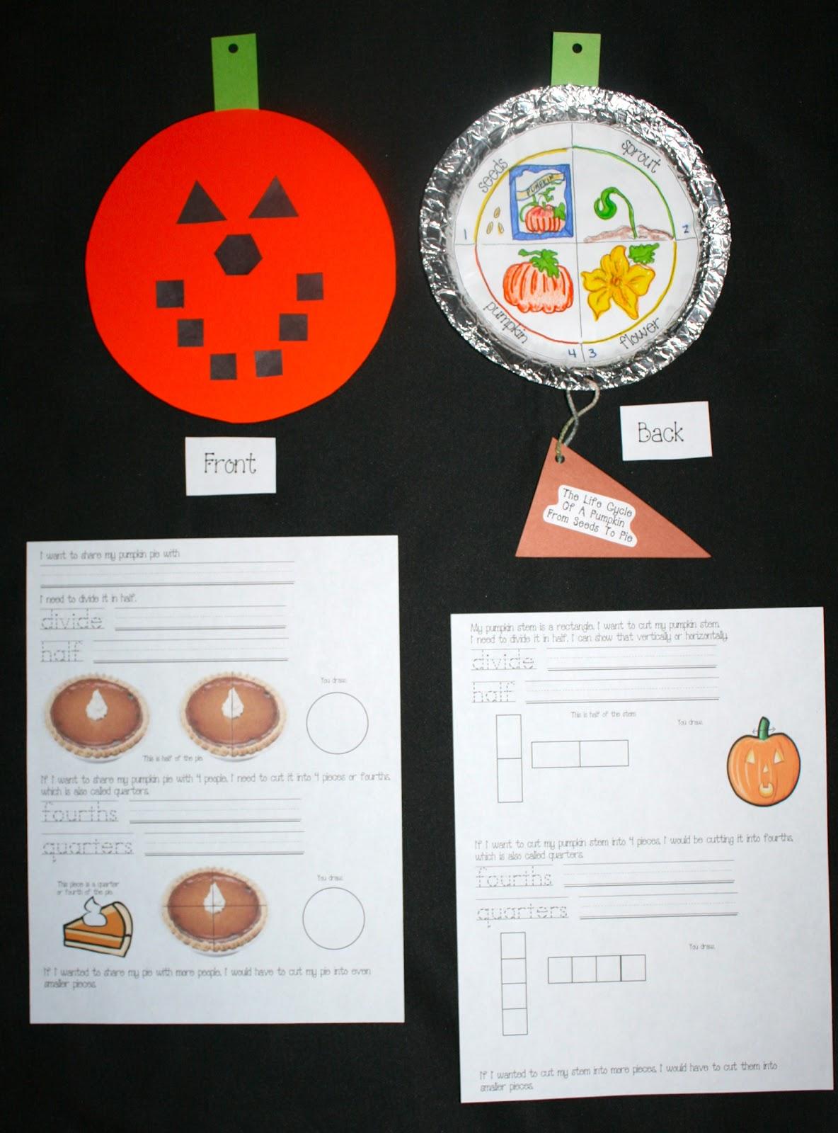 Classroom Freebies From Seeds To Pumpkin Pie
