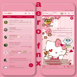 Hello Kitty Cute Theme For YOWhatsApp & Aero WhatsApp By Ave fénix