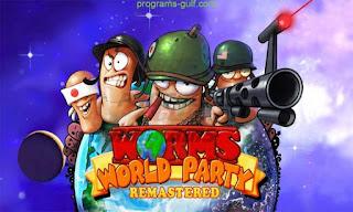 تحميل لعبة حرب الديدان القديمة Worms world Party للكمبيوتر مجانا برابط مباشر كاملة الاكشن والمغامرة