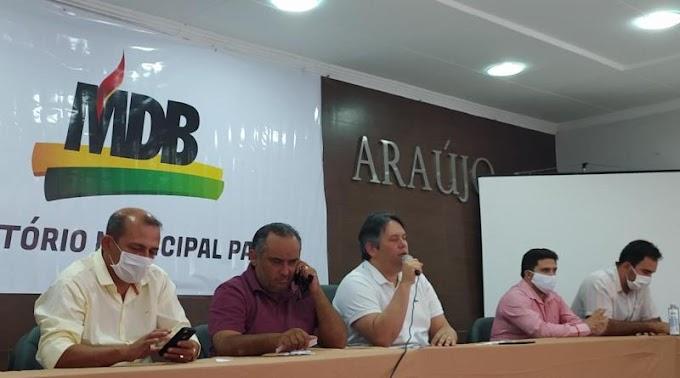 Áudio: Dinaldinho afirma em convenção que MDB ainda não definiu quem vai apoiar na majoritária