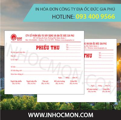 in hóa đơn công ty địa ốc Đức Gia Phú