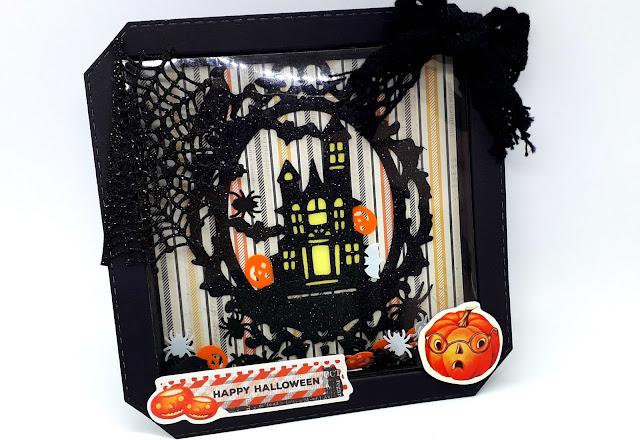 Halloween crafts, Shaker Card, Shadow Box