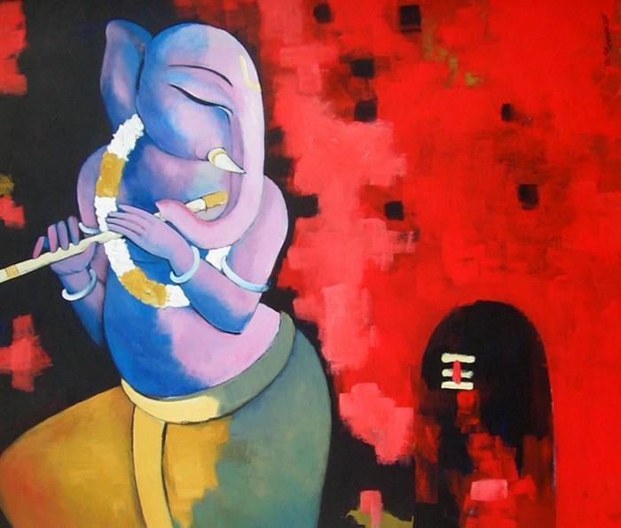 Sekhar Roy. Современный индийский художник 23