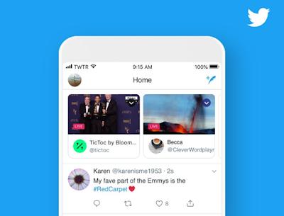 تويتر يضع مجموعات البث المباشر أعلى الخلاصة