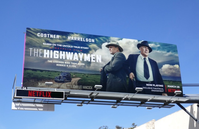 Highwaymen Netflix film billboard