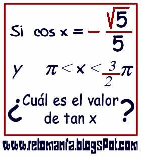 Cuadrados mágicos, Descubre el número, El número que falta, Retos para pensar, Problemas matemáticos, Retos matemáticos, Desafíos matemáticos, Retos de lógica, Problemas para pensar, Funciones trigonométricas