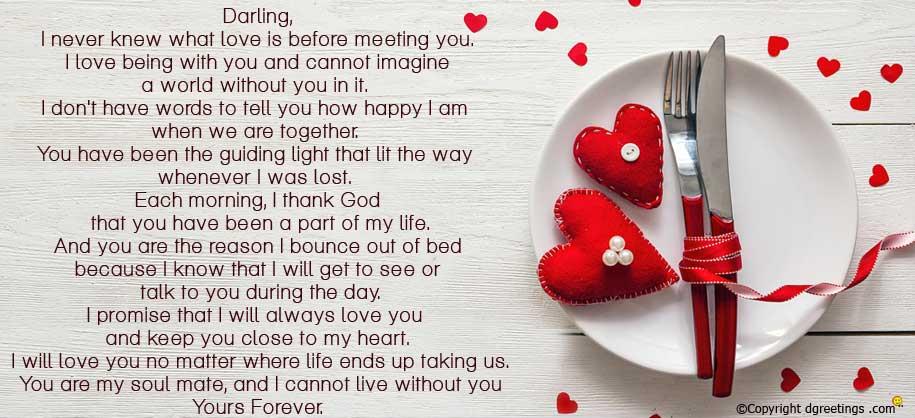 Sweet anniversary letter for girlfriend