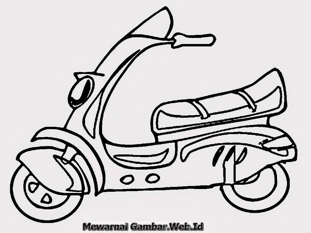 Mewarnai Gambar Motor