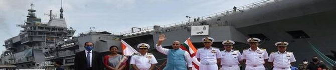 INS Vikrant With Nearly 75% Indigenous Content Apt Example of Atmanirbhar Bharat, Says Defence Minister