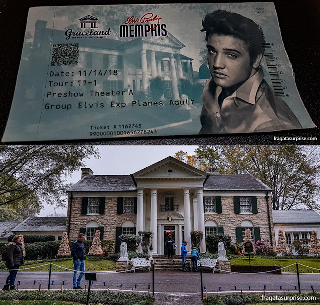 Graceland, a casa de Elvis Presley em Memphis