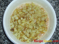 Potatoes and onions with the eggs