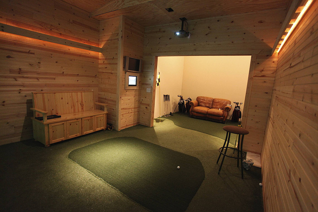 ship room climbing cave and golf simulator make a home a playhouse