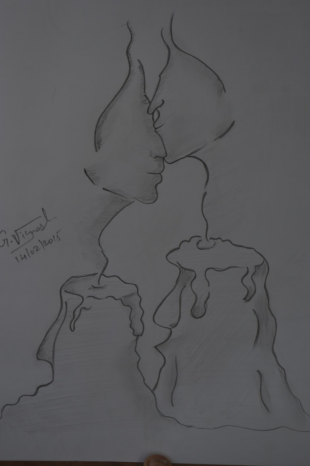 Candle feelings pencil sketch