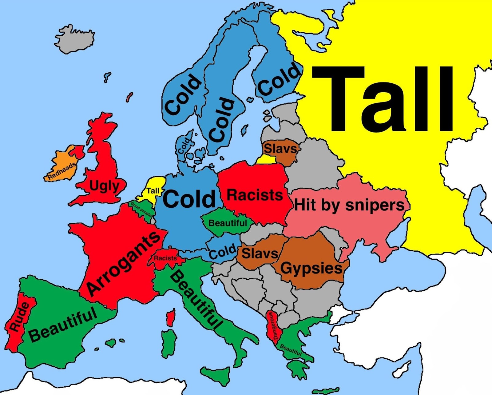 What do Brazilians think about Europeans according to Google