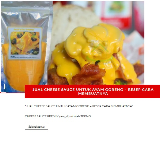 SAUS KEJU INSTAN TEKNO BOGA ALA RICHEESE FACTORY ALA KFC MCD