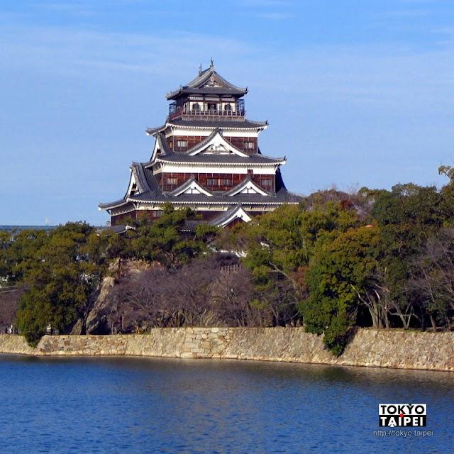 【廣島城】被原子彈炸毀之後重建的城堡