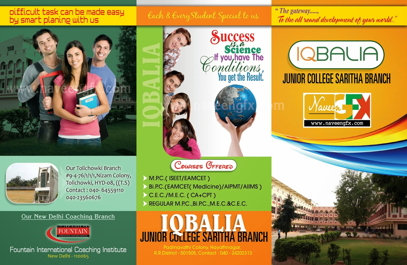 College brochure design psd template free downloads for Brochure design for training institute