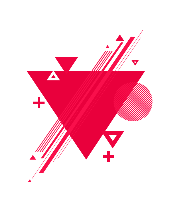 Red triangle illustration, Geometric shape Geometry, Geometric graphic material, text, triangle, heart png free png