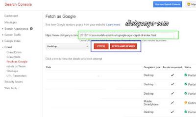 Cara Mudah Submit Url Google Agar Cepat di Index