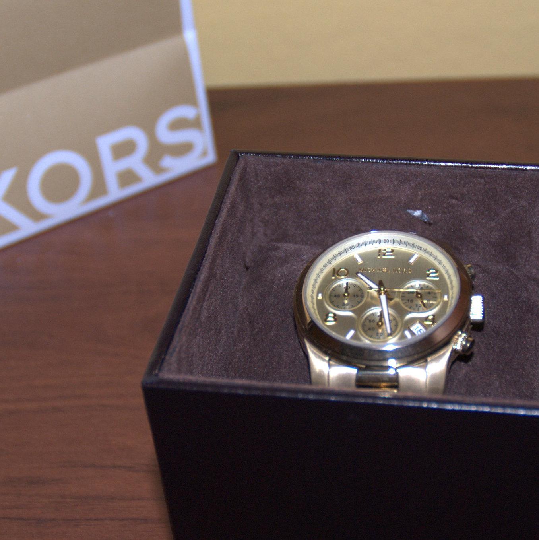 złoty zegarek Michael Kors 5055