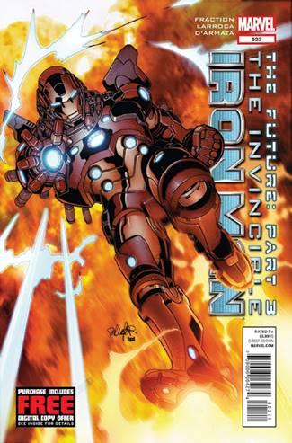 Armadura Iron Man dibujada por Salvador Larroca