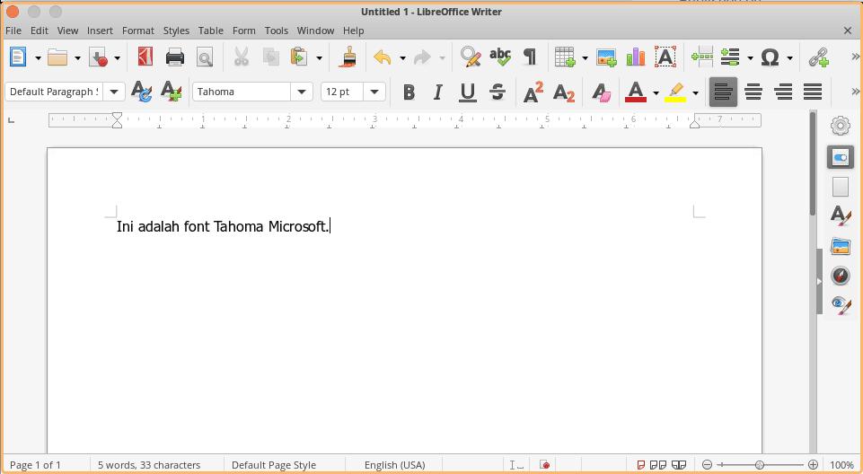 Cara Install Microsoft Font Tahoma Ubuntu 2021