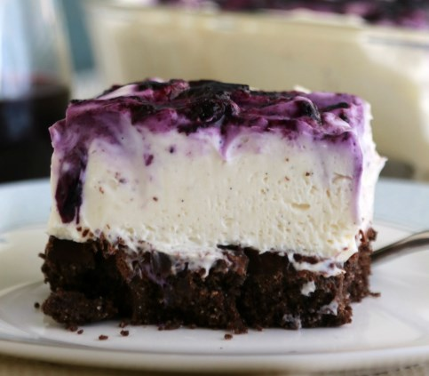 NO BAKE BLUEBERRY CHEESECAKE BARS #desserts #cake