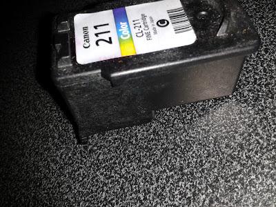 Pasos para recargar cartucho de tinta Canon CL-211