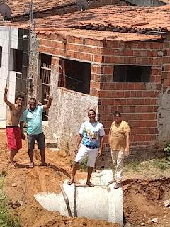 Vereador Luciano do bolo acompanha obra solicitada por seu gabinete em Guarabira