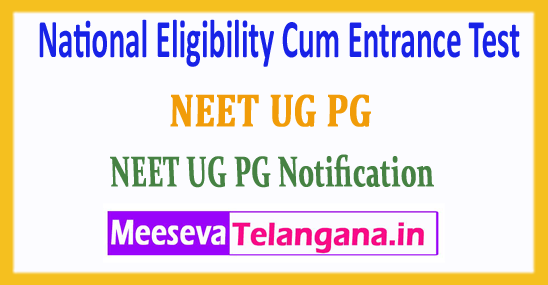 NEET National Eligibility Cum Entrance Test 2018 Application Form Notification Admit Card Download