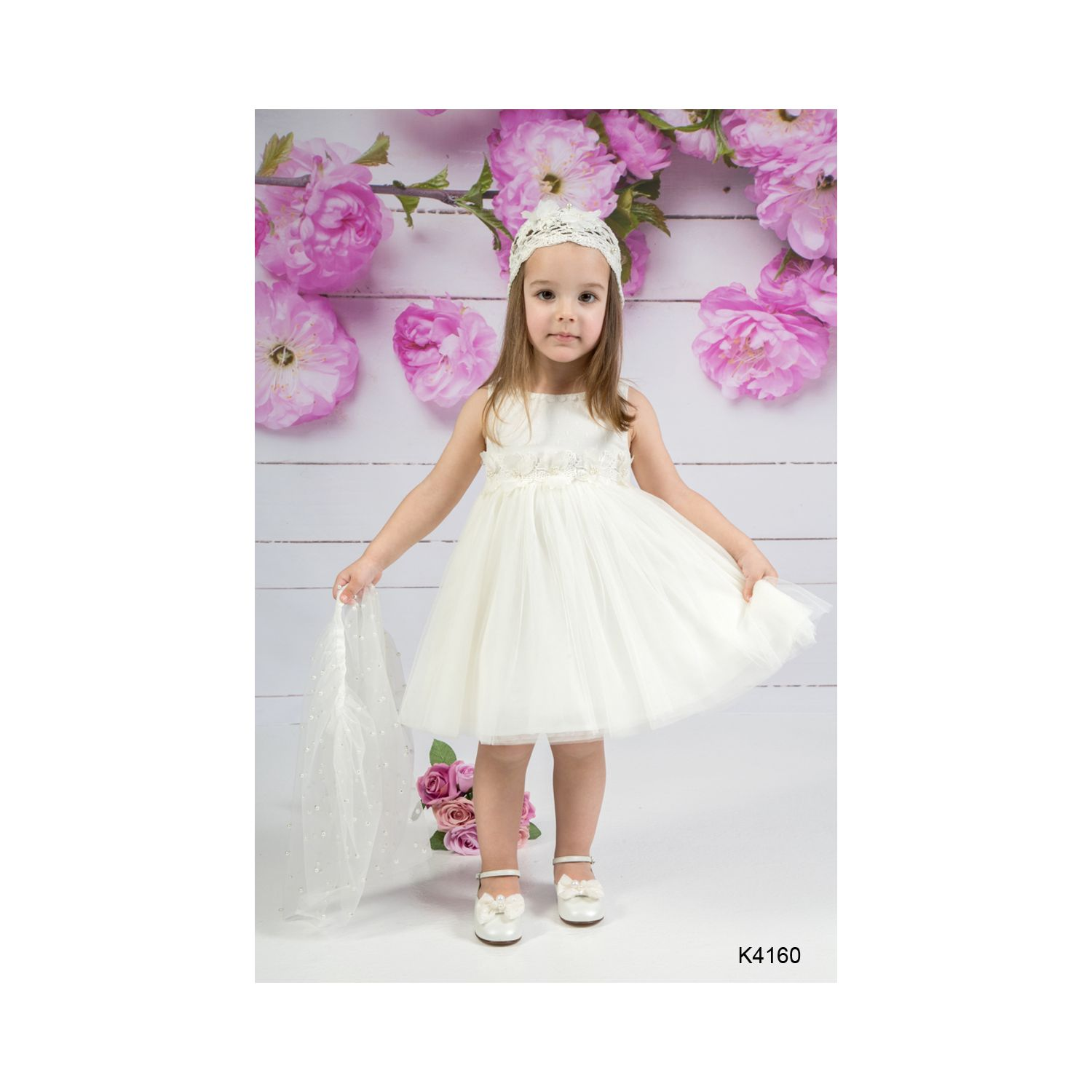 Romantic baptism dress K4160