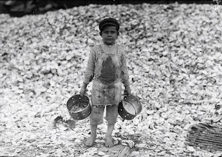 5 Years Old Manuel Shrimp Picker, photograph by Lewis Hine
