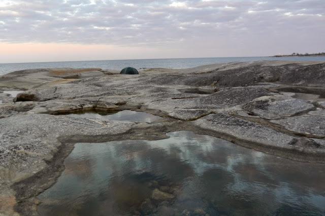 Tälta på klippor