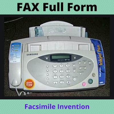 FAX Full Form