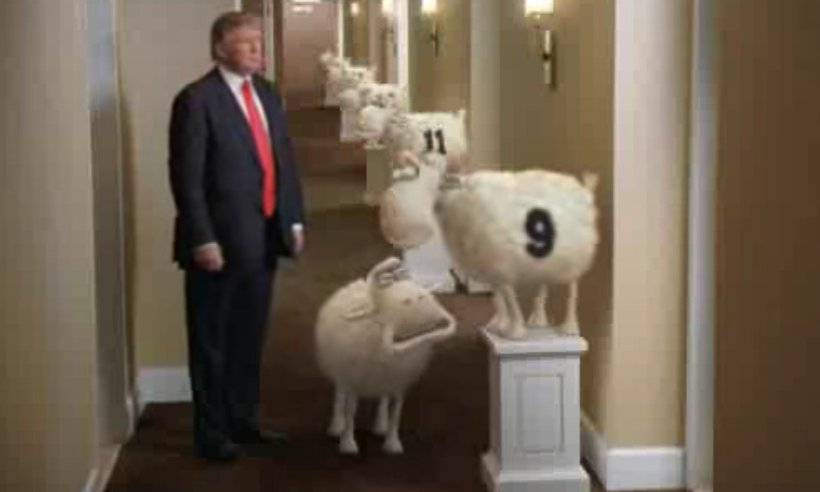 Image result for trump  tv ad with sheep