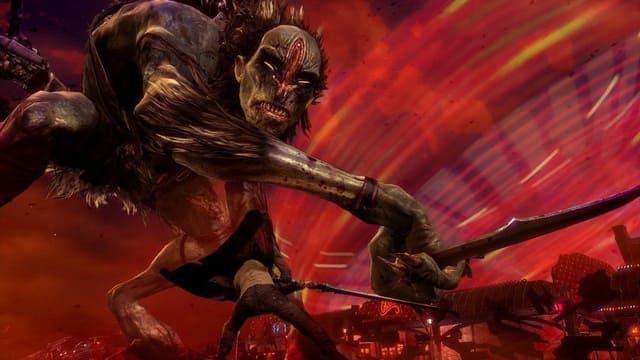 DmC: Devil May Cry هي لعبة مغامرات ومغامرة تم تطويرها بواسطة Ninja Theory ونشرتها Capcom لـ PlayStation 3 و Xbox 360 و Microsoft Windows. إنه إعادة تشغيل لسلسلة Devil May Cry. تم الإعلان عنها في أواخر عام 2010 أثناء عرض لعبة طوكيو ، وتم تعيين اللعبة في واقع بديل لسلسلة Devil May Cry الرئيسية. تركز قصة اللعبة على شخصية اللاعب دانتي ، الشاب في بداية قصته. دانتي هو نيفيليم: نصف ملاك ، نصف شيطان. هو شريك مع شقيقه التوأم ، فيرجل ، وهو في محاولة لقتل شيطان الملك موندوس ، الذي قتل والدته وحكم على والدهما بالنفي. يمكن للاعبين استخدام سيف دانتي الأيقوني ، التمرد ، ومسدسات التوقيع ، الأبنوس والعاج ، بالإضافة إلى مجموعة متنوعة من الأسلحة المشاجرة والأسلحة النارية لهزيمة الأعداء. تقدم اللعبة أيضًا وضع Angel Mode و Demon Mode ، وهما معدّلان لمجموعة نقل Dante. تم طلب إعادة تخيل سلسلة Devil May Cry بواسطة Capcom ، مما أدى إلى إعادة تشغيل كاملة. اختارت Capcom نظرية النينجا لتطوير اللعبة ، ومساعدتها على ضمان أن تكون طريقة اللعب تذكرنا ، ولكنها متميزة ، مقارنة بالعناوين السابقة. كان رد الفعل المبكر للعبة سلبياً على نطاق واسع ، بشكل عام نتيجة لإعادة التصميم البصري لدانتي ؛ ومع ذلك ، تلقى DmC مراجعات إيجابية من النقاد عند إطلاق سراحه ، ولكن استقبال أقل تفضيلاً بين المعجبين. أشاد النقاد باللعبة وأسلوب الفن وقصة اللعبة. فشلت اللعبة في نهاية المطاف في تلبية توقعات مبيعات Capcom. تم توسيع DLC للعبة ، بعنوان Vergil's Downfall ، والذي يحدث بعد اللعبة الرئيسية ويضم شقيق Dante Vergil كشخصية قابلة للتشغيل ، تم إصداره في 23 مارس 2013. نسخة معدلة من اللعبة الكاملة ، بعنوان DmC: Definitive Edition ، قيد التشغيل في 1080p / 60fps ، بما في ذلك جميع المحتويات القابلة للتنزيل والأزياء الجديدة وميزات اللعب الجديدة مثل نظام الاستهداف اليدوي ، تم إصداره لـ PlayStation 4 و Xbox One في 10 مارس 2015. تم تطوير الإصدار النهائي وإصدار الكمبيوتر الأصلي بواسطة Q-LOC.