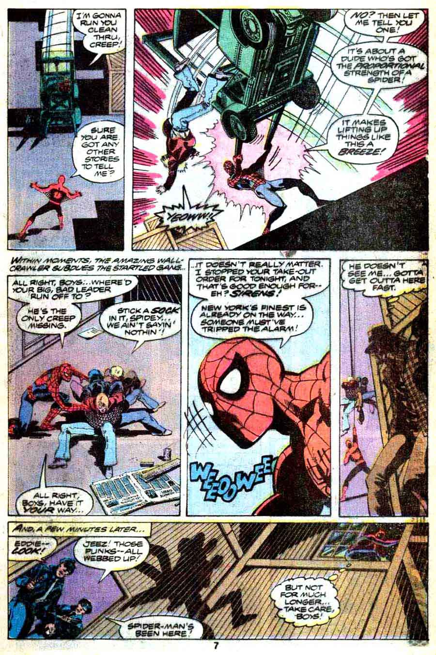 Amazing Spider-Man v1 annual #13 marvel comic book page art by John Byrne