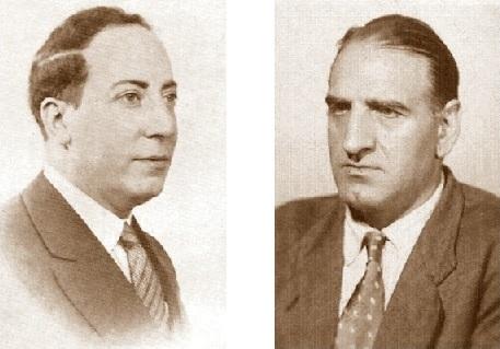 Los ajedrecistas Martín de Ortueta Esteban y José Sanz Aguado