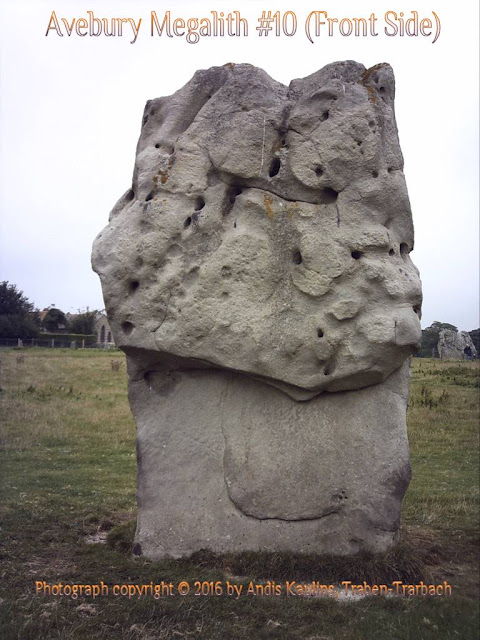 Avebury Stone #10 Front Side Photo by Andis Kaulins