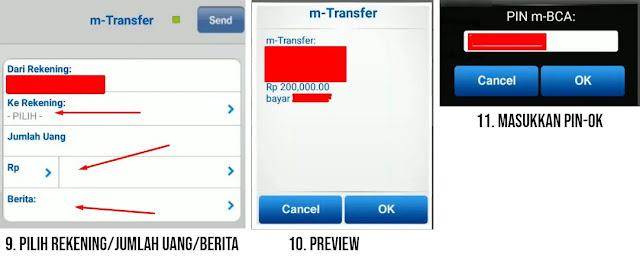 cara transfer bca ke bca lewat bca mobile