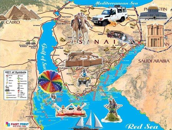 Sharm El Sheikh Map - Egypt