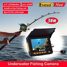 "Kamera Pelacak Ikan - Underwater Fishing Camera Eyoyo 4.3"" Display"