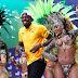 Usain Bolt samba durante a sua primeira conferência de imprensa da #Rio2016