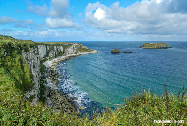 Carrick-a-Rede, cenário de Game of Thrones, na Irlanda do Norte