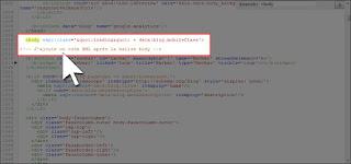 Ajouter un code XML après la balise body