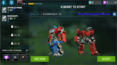 Download Transformers Forged to Fight v0.1.5 Apk