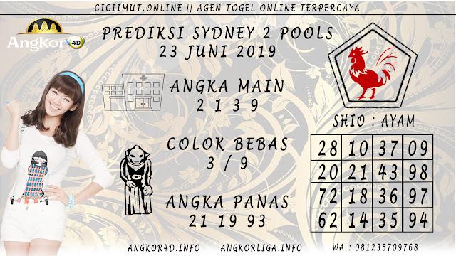 PREDIKSI SYDNEY 2 POOLS 23 JUNI 2019