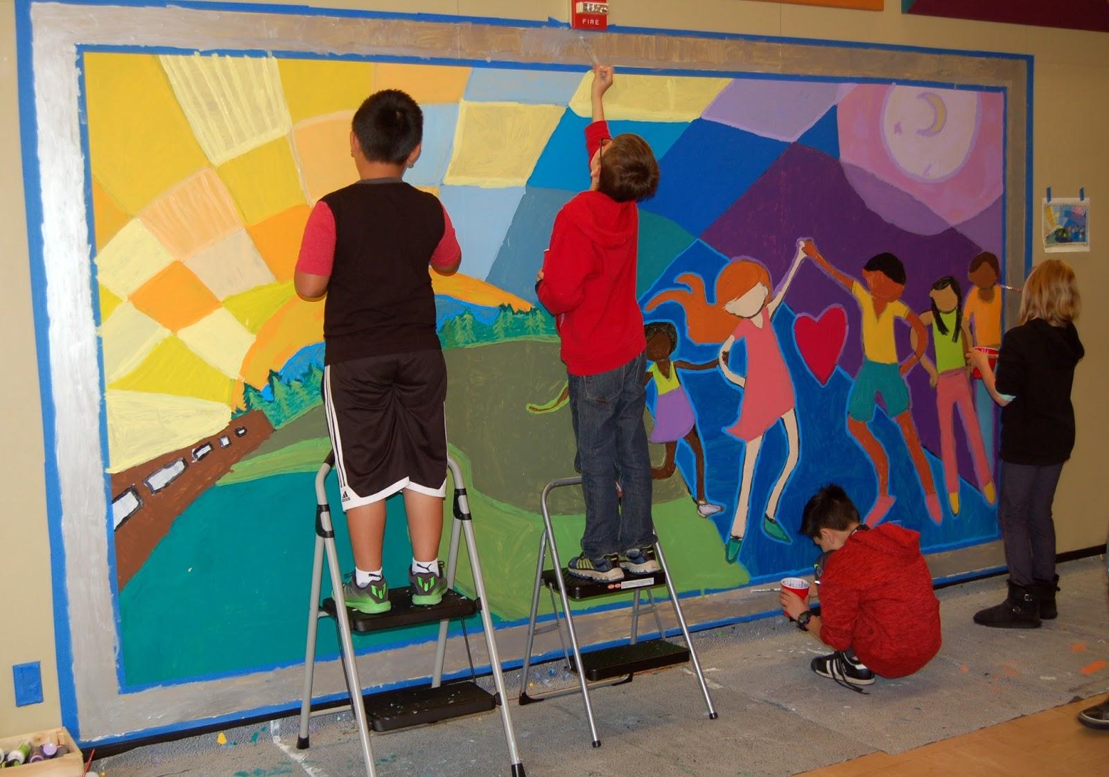 The talking walls for Elementary school mural ideas
