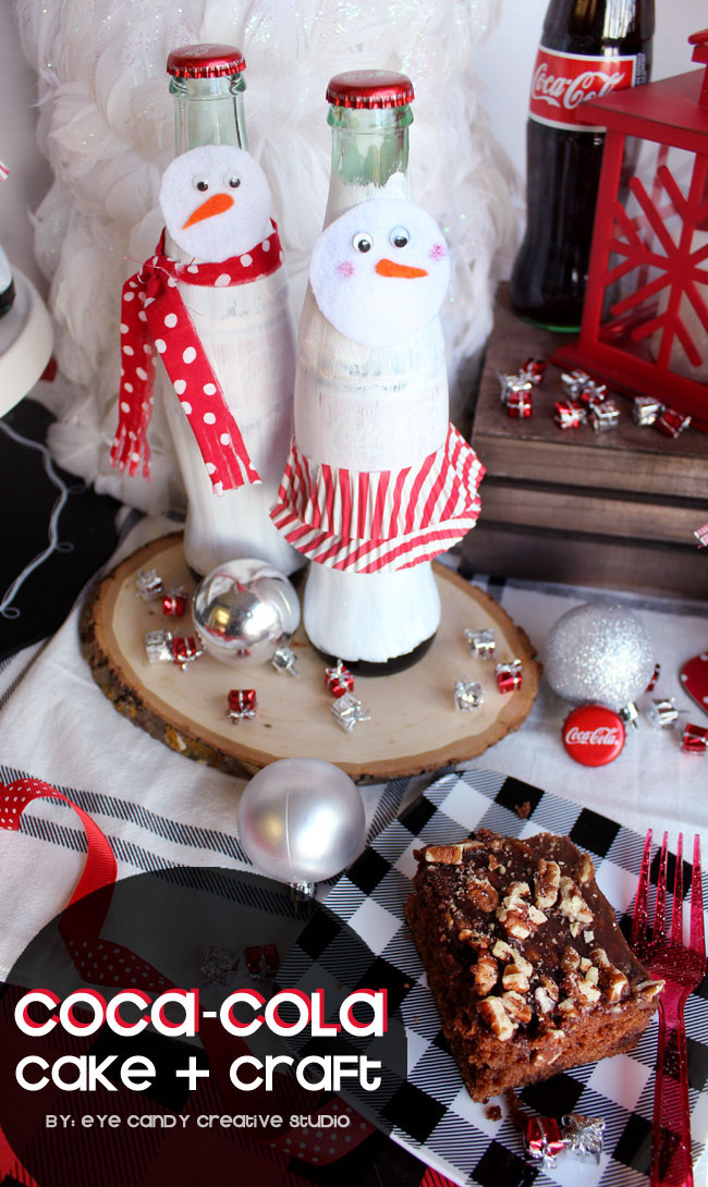 snowman craft, coca cola, cake recipe, coke bottle craft, winter craft idea